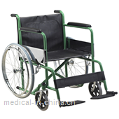 AGST001C Standard steel wheelchair with powder coating