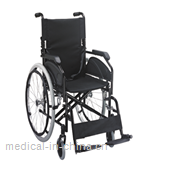 AGST008 Steel wheelchair with double cross bar